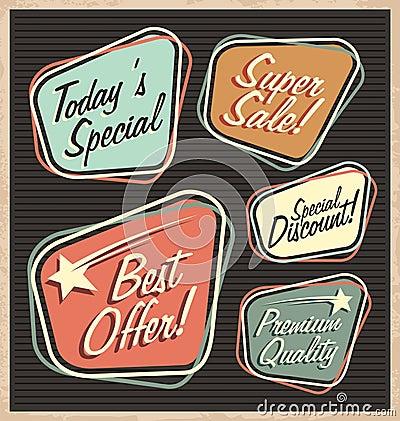 Free Set Of Retro Design Elements Royalty Free Stock Photo - 32698425