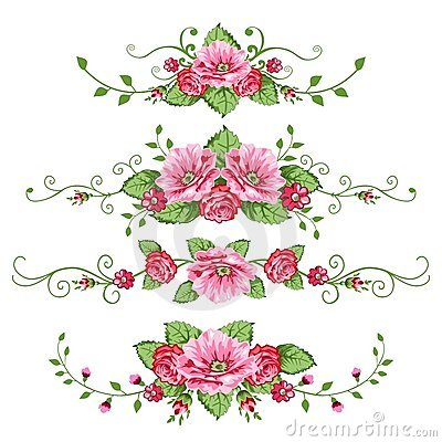 Free Set Of Roses Banners Royalty Free Stock Image - 10215076