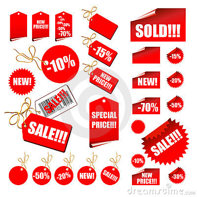 Free Set Of Sale Labels Royalty Free Stock Image - 5092186