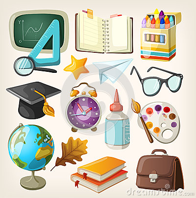 Free Set Of School Items. Stock Photo - 33048640