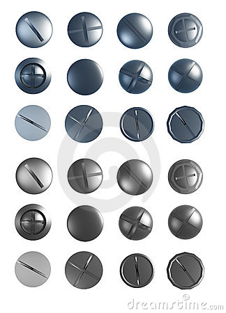 Free Set Of Screws Royalty Free Stock Photography - 8103497