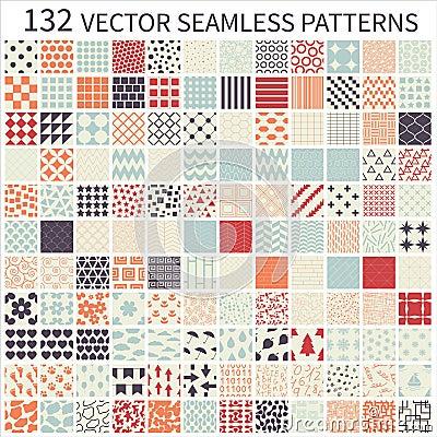 Free Set Of Seamless Patterns. Stock Photos - 43601093