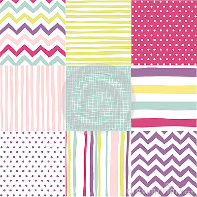 Free Set Of Seamless Patterns Stock Image - 53795761