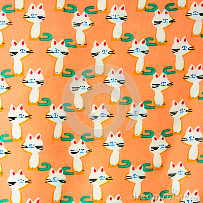 Free Set Of Seamless Patterns With Kittens. Patterns Cartoon Cats Stock Images - 53204534