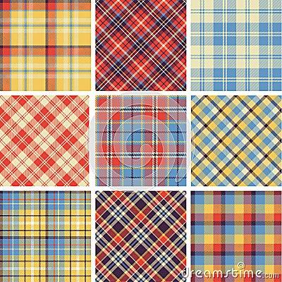 Free Set Of Seamless Tartan Patterns Stock Photography - 33853702
