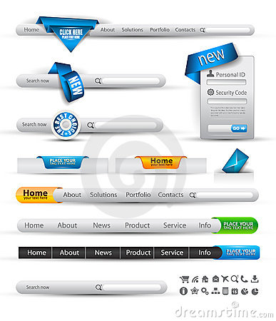 Free Set Of Search Banners And Web Header Royalty Free Stock Photos - 20841248