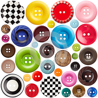 Free Set Of Sewing Buttons Stock Photography - 65521632