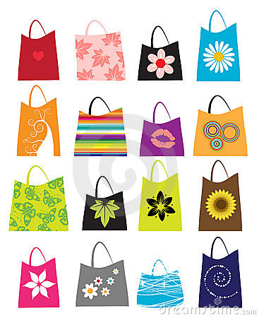 Free Set Of Shopping Bags Royalty Free Stock Image - 5359156