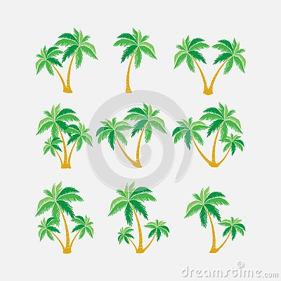 Free Set Of Silhouettes Of Palm Trees, Exotic Symbol Royalty Free Stock Photo - 137972475