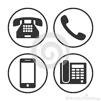 Free Set Of Simple Phone Icon Stock Photography - 43117082