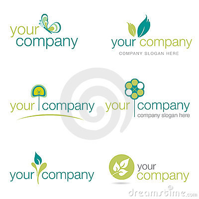 Free Set Of Six Nature And Gardening Logos (vector) Royalty Free Stock Image - 17201396