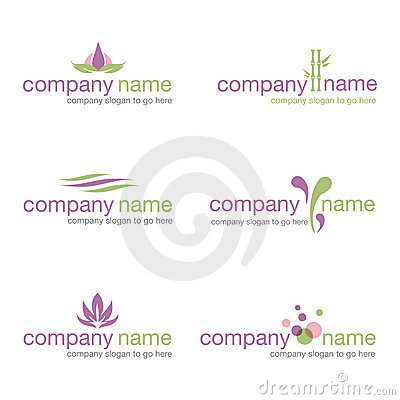 Free Set Of Six Spa And Wellness Logos (vector) Royalty Free Stock Photo - 22056395