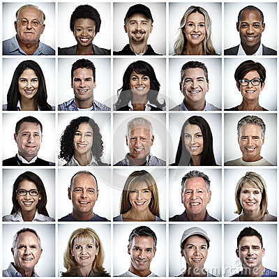 Free Set Of Smiling People Face. Royalty Free Stock Image - 78677956
