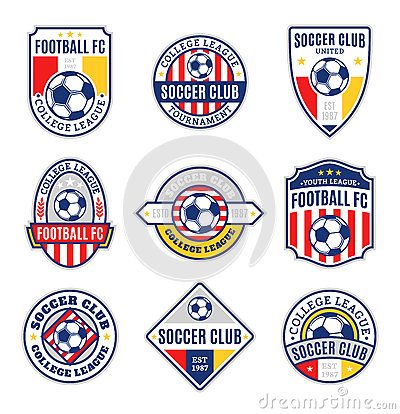Free Set Of Soccer Football Club Logo Stock Image - 61642541