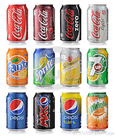 Free Set Of Soda Cans Royalty Free Stock Image - 43232576