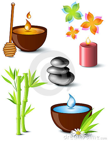 Free Set Of Spa Treatment Symbols Royalty Free Stock Image - 17759176