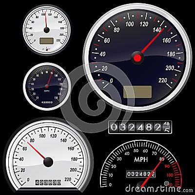 Free Set Of Speedometer Vector Stock Photo - 5617790