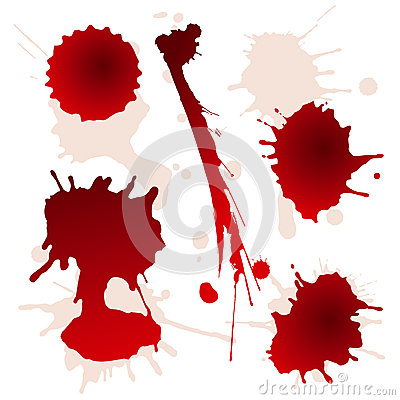 Free Set Of Splattered Blood Stains Stock Photography - 25932952