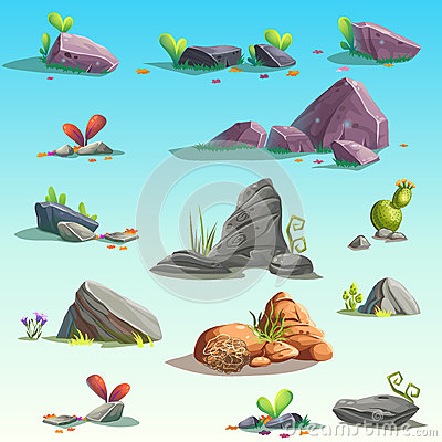 Free Set Of  Stones, Boulders Stock Photo - 73520420