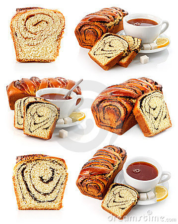 Free Set Of Sweet Fancy Baking With Tea Cup Stock Image - 12726491