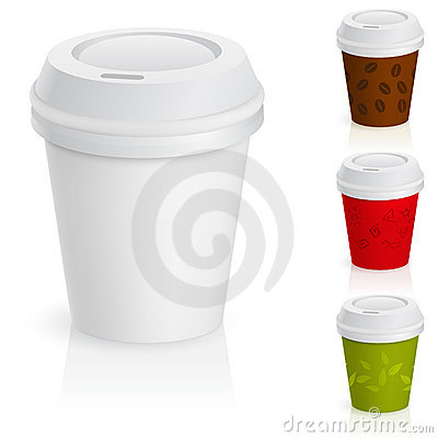Free Set Of Takeaway Coffee Cups. Stock Photography - 19924282