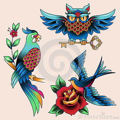 Free Set Of Tattoos Stock Image - 38111521