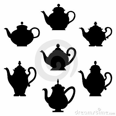 Free Set Of Teapots Royalty Free Stock Images - 20333599