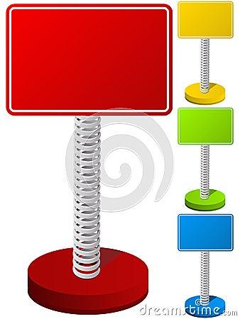 Free Set Of Text Box On Metal Spring Royalty Free Stock Photos - 20536968