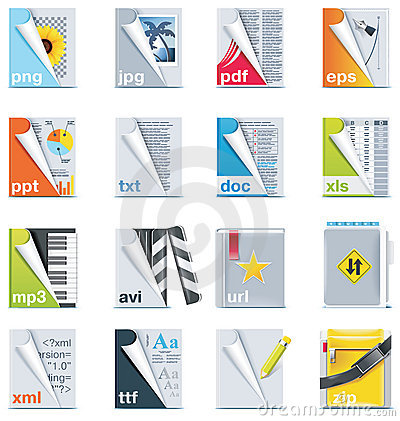 Free Set Of The Files And Folders Icons Stock Photography - 14696532