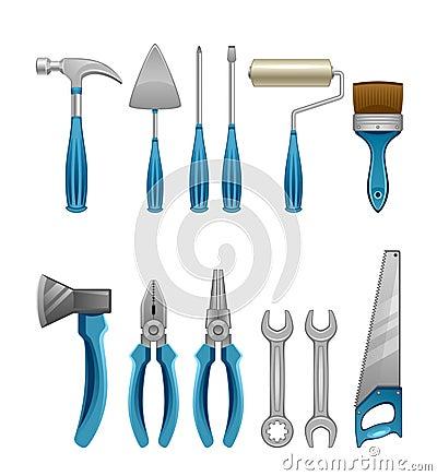 Free Set Of Tools Royalty Free Stock Photo - 29639715