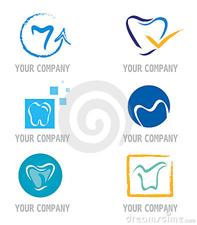 Free Set Of Tooth Icons And Elements For Logo Design Royalty Free Stock Images - 18166899