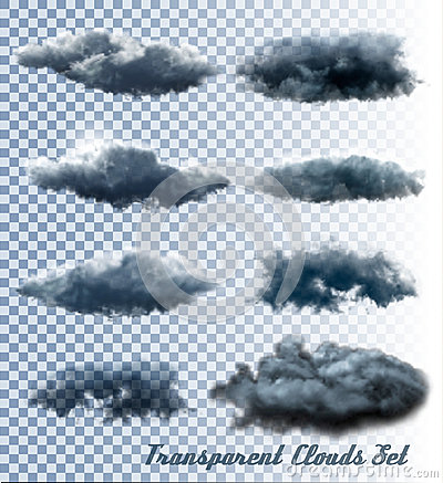Free Set Of Transparent Clouds And Smoke. Royalty Free Stock Photo - 75219465