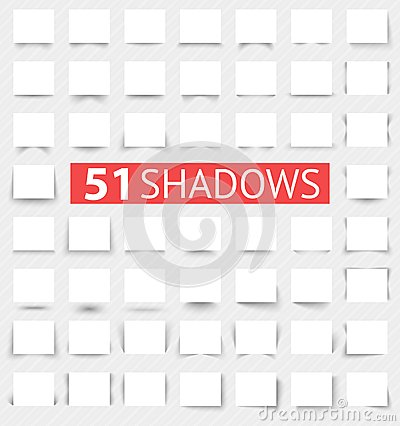 Free Set Of Transparent Realistic Shadow Effects Stock Photos - 32499083