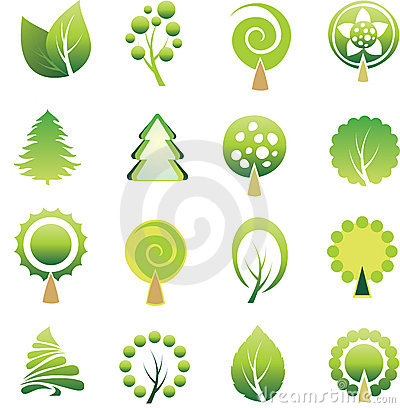 Free Set Of Trees And Leaf. Stock Photo - 7772420
