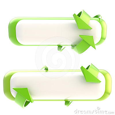 Free Set Of Two Banner Buttons Isolated Stock Image - 24606001