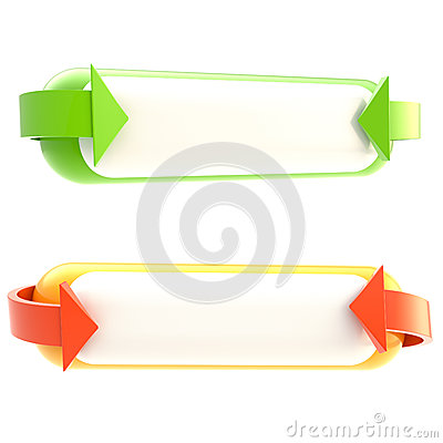 Free Set Of Two Banner Buttons Isolated Stock Photography - 25330232