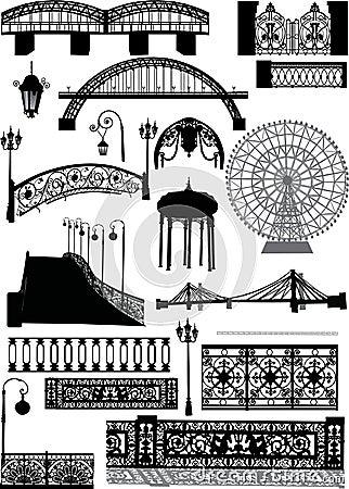 Free Set Of Urban Street Elements Stock Image - 11955791