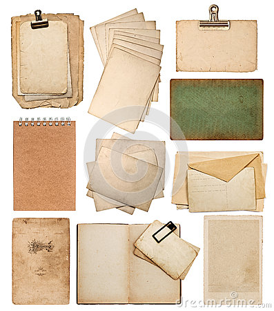 Free Set Of Various Old Paper Sheets Stock Images - 30288574