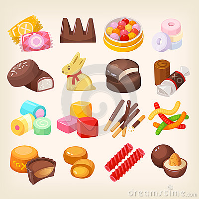 Free Set Of Various Sweets Royalty Free Stock Images - 91582959