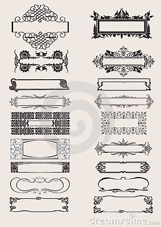 Free Set Of Vector Frames Ornament Elements Royalty Free Stock Image - 17914736