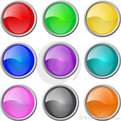 Free Set Of Vector Glossy Web Blank Buttons Stock Photography - 8648422