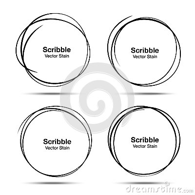 Free Set Of Vector Hand Drawn Circles Using Sketch Drawing Scribble Circle Lines. Doodle Circular Logo Design Elements Royalty Free Stock Images - 89808199