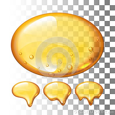 Free Set Of Vector Honey Drops On Transparent Background Royalty Free Stock Photos - 100312298