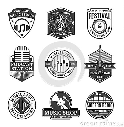 Free Set Of Vector Music Logo, Icons And Design Elements Royalty Free Stock Photography - 61979227
