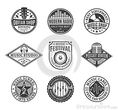 Free Set Of Vector Music Logo, Icons And Design Elements Royalty Free Stock Image - 61979286