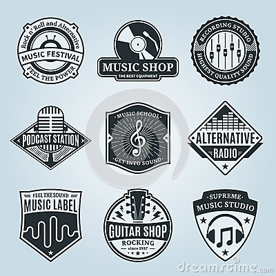 Free Set Of Vector Music Logo, Icons And Design Elements Stock Image - 61979311
