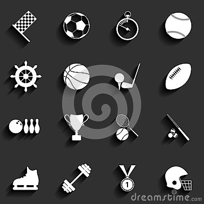 Free Set Of Vector Sport Icons In Flat Design Stock Photo - 35715890