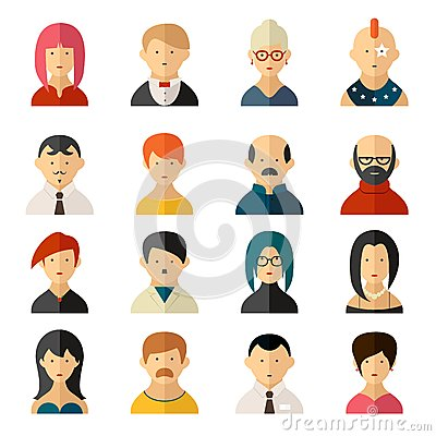 Free Set Of Vector User Interface Avatar Icons Royalty Free Stock Image - 43386186
