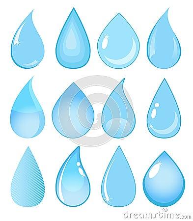 Free Set Of Vector Water Drops Royalty Free Stock Photos - 32805038