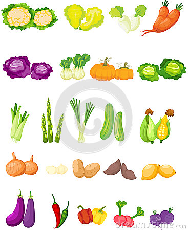 Free Set Of Vegetables Stock Photography - 38545952